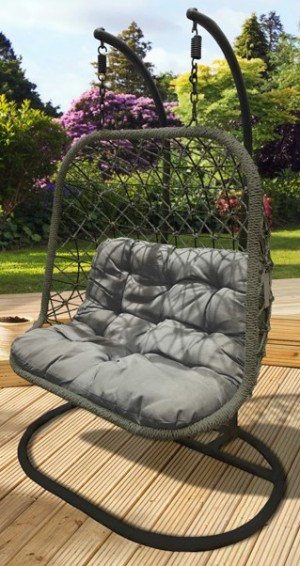 Madeira Double Rattan Rope Hanging Chair