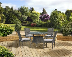 Toulouse 4 Seat Dining Set -