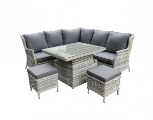 Verona Deluxe Compact Corner Set with Adjustable Table