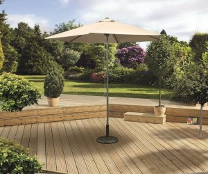 2 5m Beige Push Up Parasol