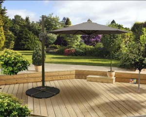 3m Deluxe Overhanging Parasol Taupe