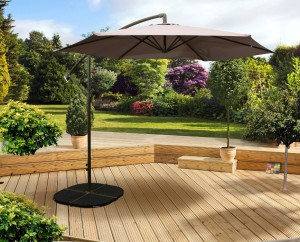 3m Overhanging Parasol Taupe