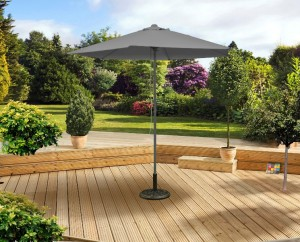 2 5m Grey Push Up Parasol
