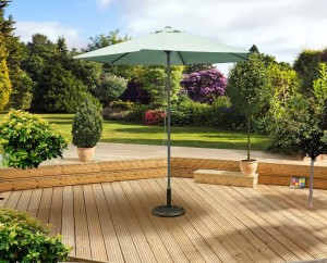 2 5m Mint Push Up Parasol