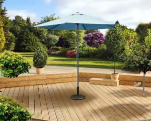 2 5m Sky Blue Push Up Parasol