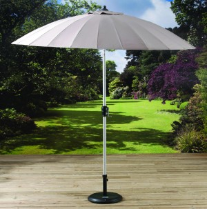 2 7m Shanghai Parasol with Crank and Tilt Beige