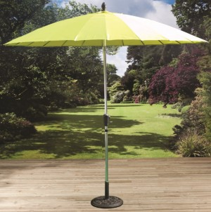 2 7m Shanghai Parasol with Crank and Tilt Lime Green
