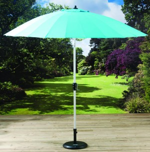 2 7m Shanghai Parasol with Crank and Tilt Turquoise