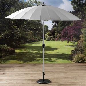 2 7m Shanghai Parasol with Crank and Tilt Grey