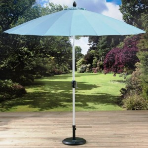 2 7m Shanghai Parasol with Crank and Tilt Sky Blue