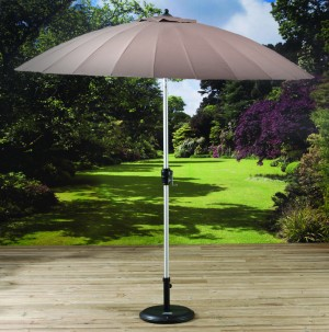 2.7m Shanghai Parasol with Crank and Tilt Beige